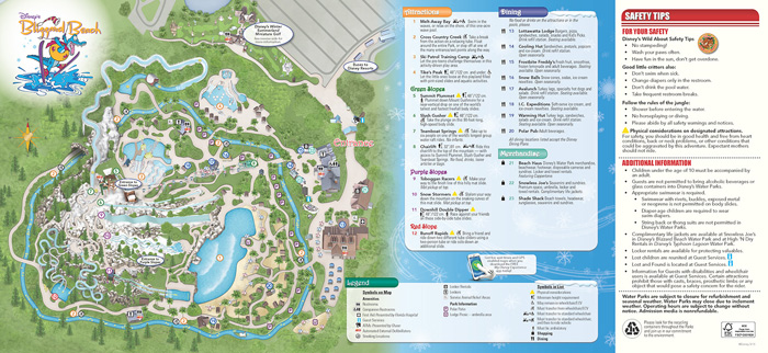 Blizzard Beach Map And Pdf Water Park Hotels Orlando