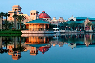 View of the Disney Coronado Springs Resort from the Lake