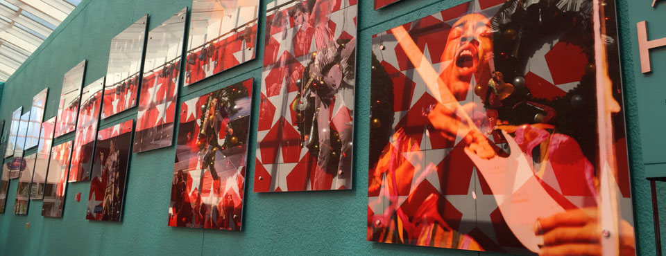 View of the Wall of Music Artists at the Disney All Star Music Resort Lobby 960