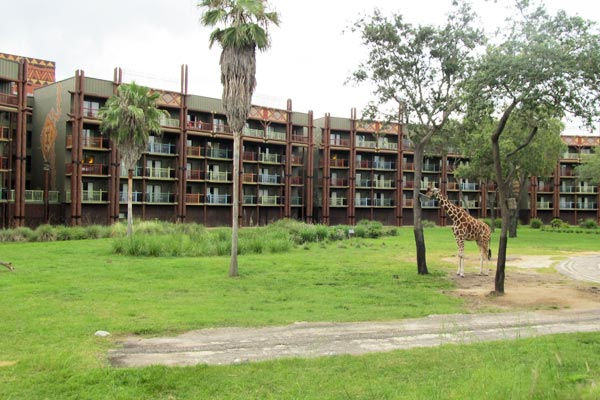 View of the Savanna and rooms with Balcony at the Animal Kingdom Kidani Village Resort 600