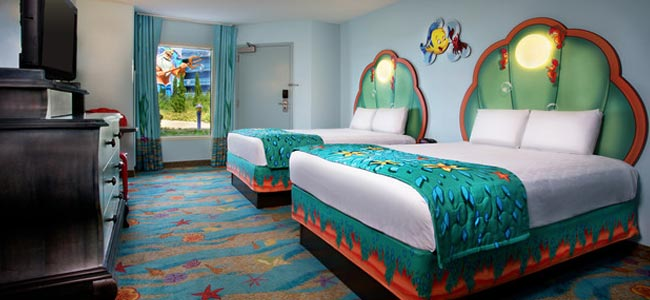 Disney World Art Of Animation Little Mermaid Themed Bedroom