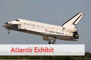 View of Atlantis landing for Exhibit at the Kennedy Space Center at Cape Canaveral