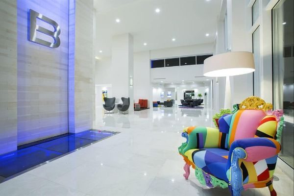 Colorful Chair in Chic Lobby B Resort Disney Springs Orlando 600
