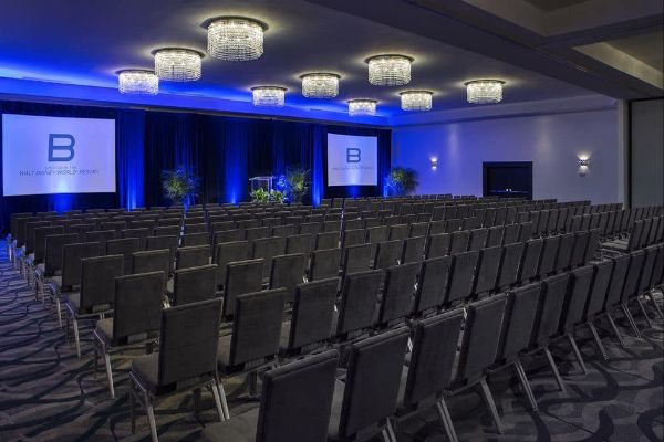 Rows of Chairs in Meeting Space at the B Resort & Spa Orlando 600