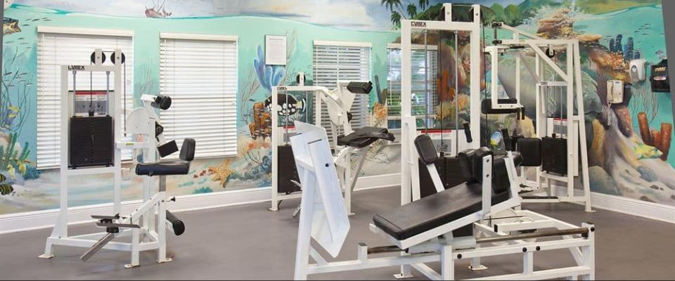 A view of the Fitness Center at the Bahama Bay Resort in Orlando