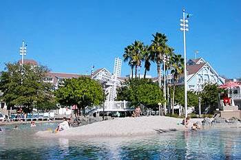 View of Sandy Beach Pool at Disney Beach Club Villas 4x3