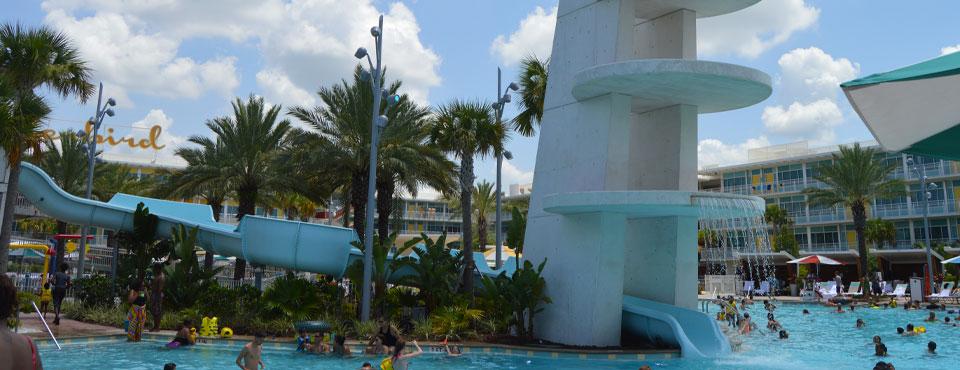 Water Slide at the Cabana Bay Beach Resort in Universal Orlando wide