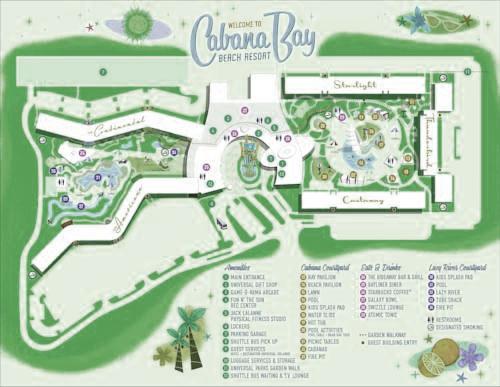 Google Map of Cabana Bay Beach Resort in Orlando Fl