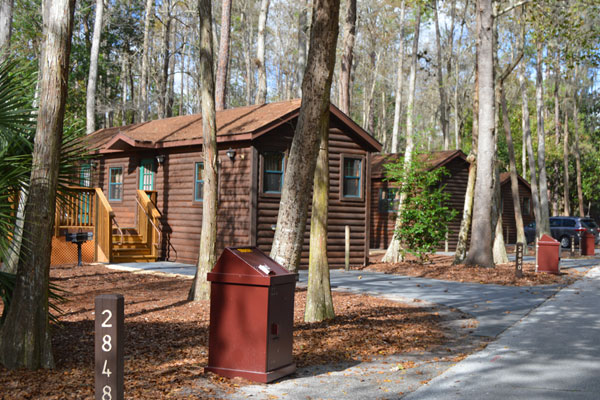 Cabins at the Fort Wilderness Campground