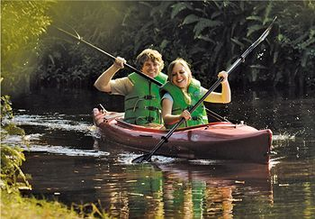 One of the many Water Sports of Canoeing at Disney Fort Wilderness