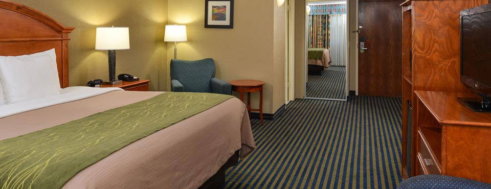 View of a King Room at the Comfort Inn Orlando Lake Buena Vista in Fl 960