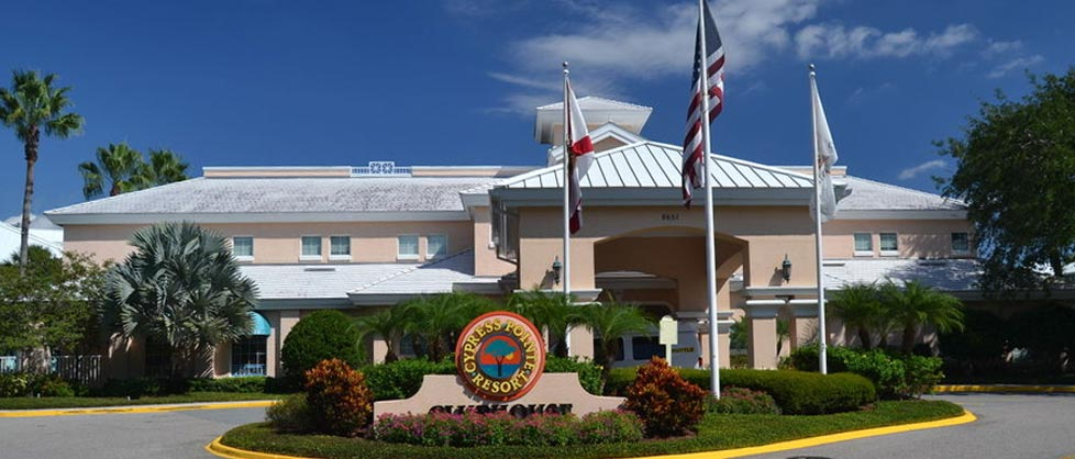 Front Entrance to the Cypress Pointe Resort in Orlando Fl 960