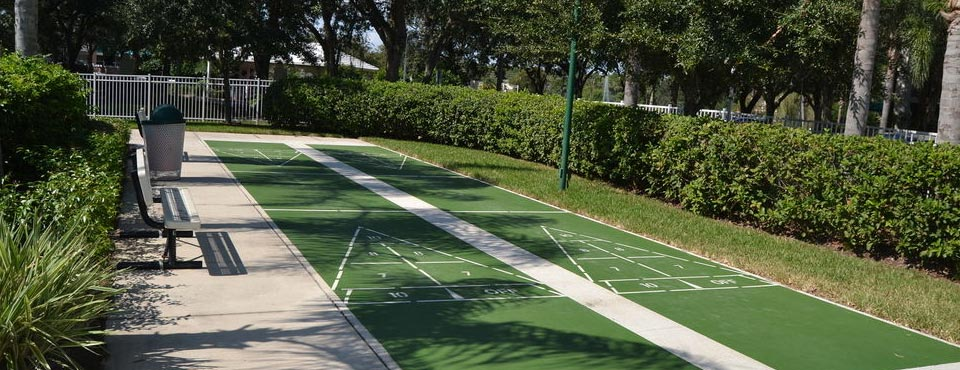 2 Shuffleboard Courts at the Cypress Pointe Resort in Orlando Fl
