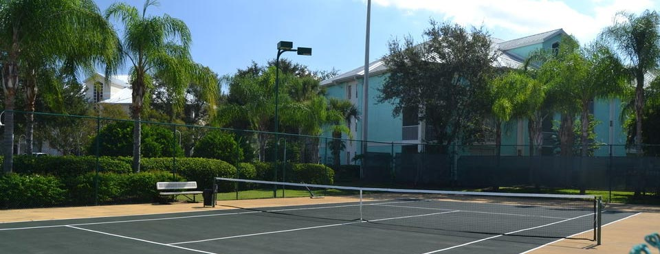 View of Tennis Court at the Cypress Pointe Resort in Orlando Fl