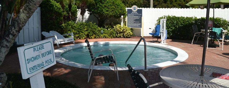 View of the Hot Tub located at the Volcano Pool at Cypress Pointe Resort Orlando