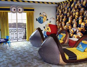 Despicable ME themed suites at Portofino Bay in Orlando
