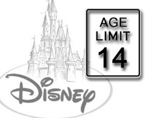 Disney Parks Age Limit Sign