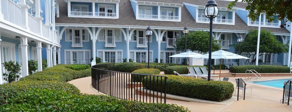 Disney Beach Club Rooms by the pool with Balconies