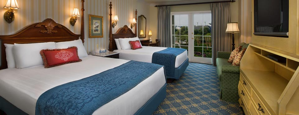 View of a Standard Room layout at the Disney Boardwalk Inn