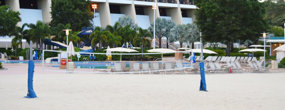 View of the Sand Volleyball Court at the Disney Contemporary Resort at Disney World