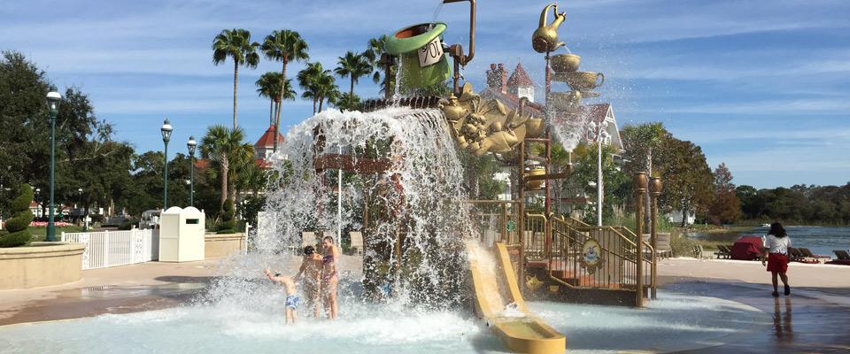 Kids Mad Hatter Splash Park at the Disney Grand Floridian Disney World 960
