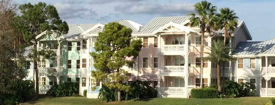 View of a building of Rooms from Disney Old Key West Resort in Orlando 960