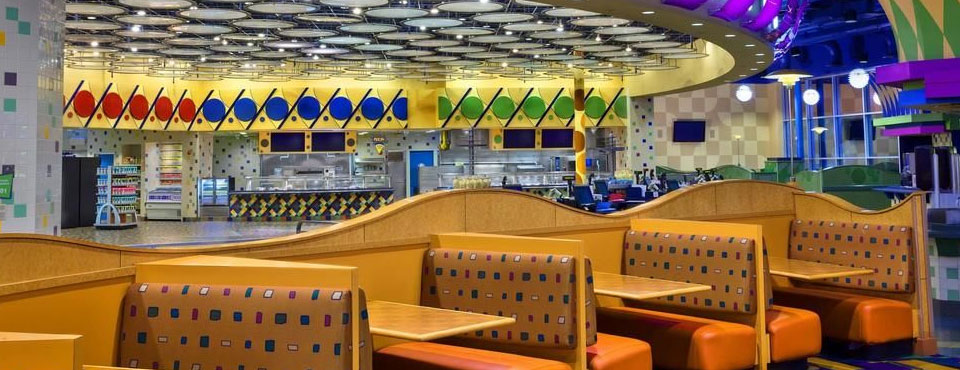 Dining Hall at the Disney Pop Century Resort