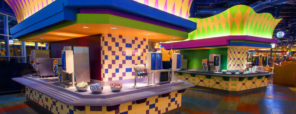 Drink Station at the Food Court at Disney Pop Century Value Resort wide