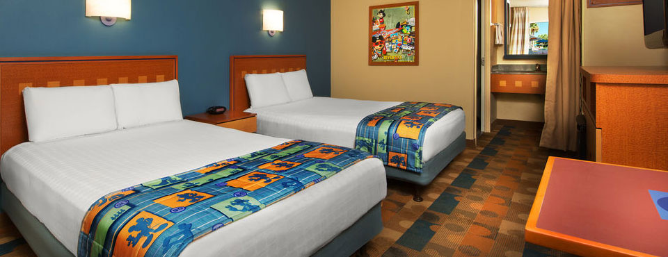 Disney Pop Century 2 Queen Bedroom wide