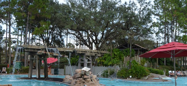 The whole family will love to splash down the Disney Port Orleans Riverside Water Slide