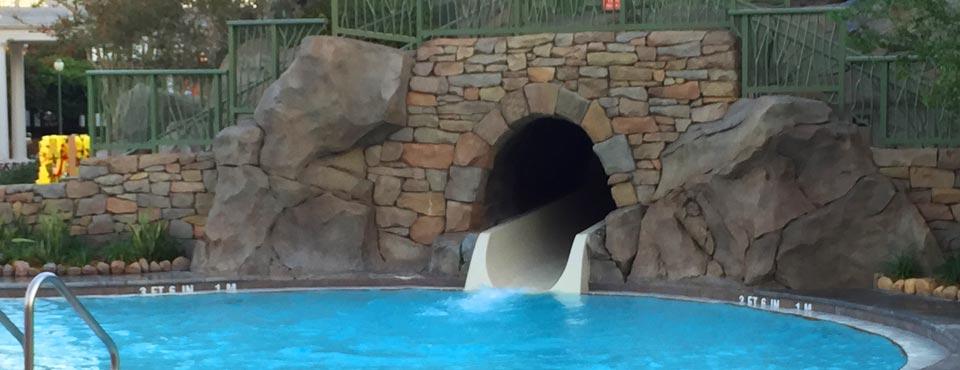 Disney Saratoga Springs Resort Pool with Water Slide splash down point 960