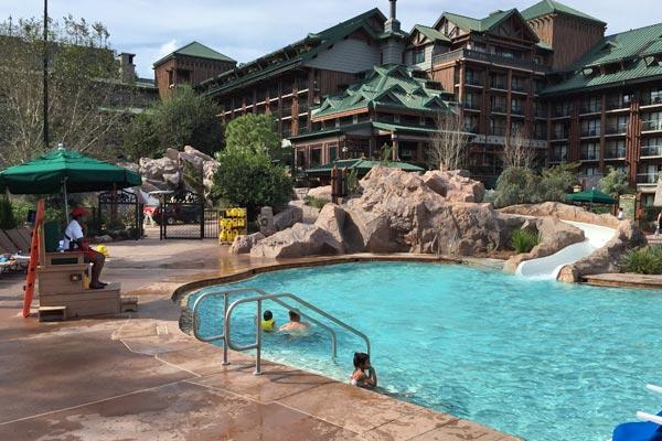 Disney Wilderness Lodge Swimming Pool Water Slide