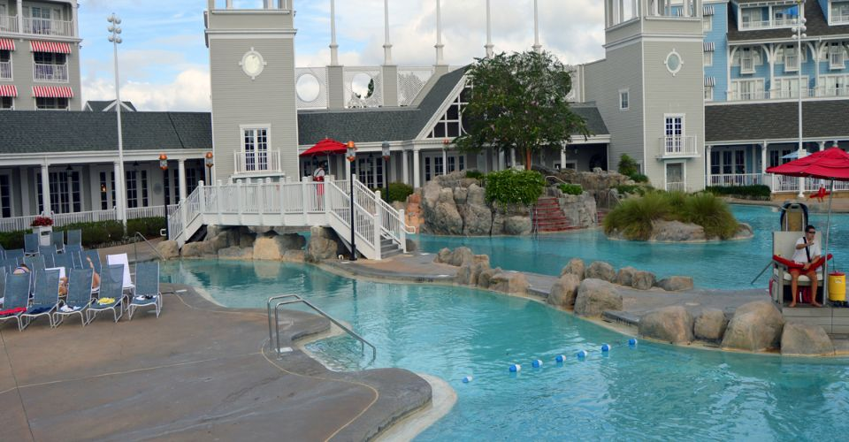 Lazy River with Lifeguard watching at Stormalong Bay Disney Yacht Club