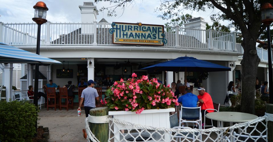 Huricane Hannas bar and grill at the sand bottom pool Stormalong Bay at the Disney Yacht and Beach Club Resort