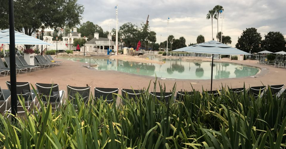 Sandy Beach and Sand Bottom Pool at the Disney Yacht and Beach Club Stormalong Bay Water Park