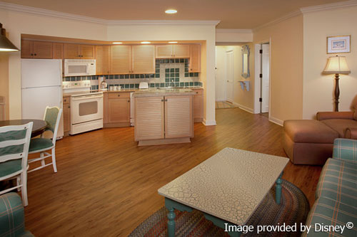 Kitchen And Living Area In A 2 Bedroom Villa At The Disney Old Key West Resort