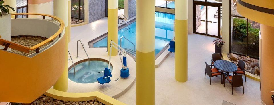 Indoor Pool from above at the Embassy Suites Jamaican Court Orlando 960