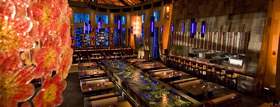Stylish and Modern design at Emeril's Tchoup Chop Restaurant at the Loews Royal Pacific Resort in Orlando wide