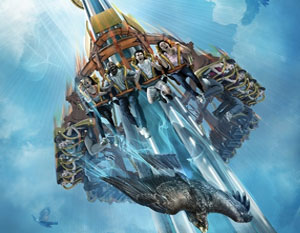 At Over 300 Feet and 60 MPH Falcons Fury Busch Gardens Tampa is going to take your breath away