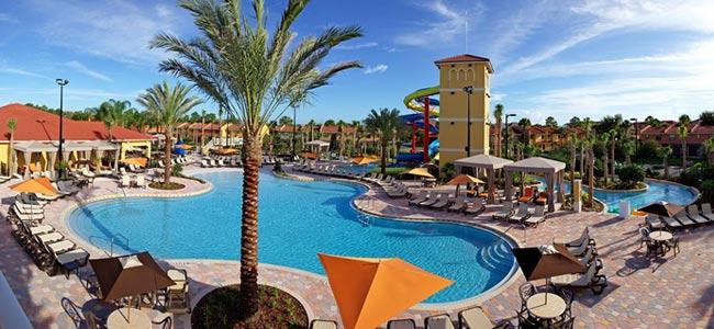Zero Entry main family pool at the Fantasy World Resort in Orlando