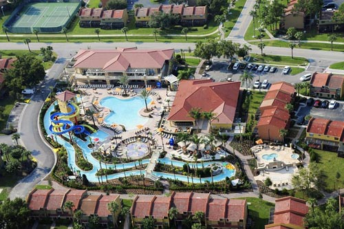 View of the Fantasy World Resort in Orlando Fl from the top