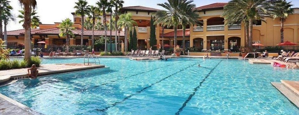 Lap Pool with multiple lanes in the Grand Pool at the Floridays Resort in Orlando Florida