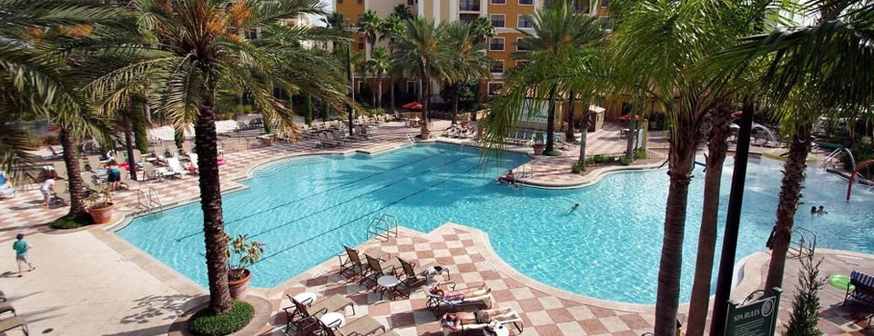 Floridays Resort Orlando Large Family Grand Pool top down view