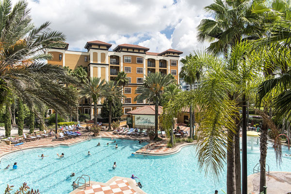 Floridays Resort Orlando Large Family Grand Pool overview wide