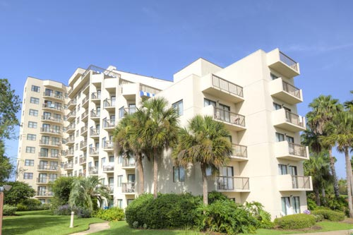 Full view of the Enclave Hotel and Suites with Balconies in Orlando Fl