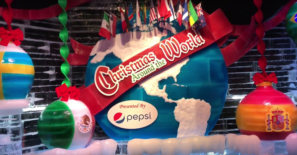 Christmas Globe around the world ICE Gaylord Palms 960
