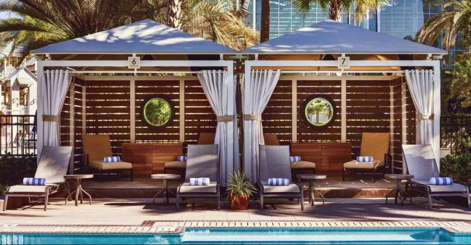 Private, large Cabanas at the Gaylord Palms Resort