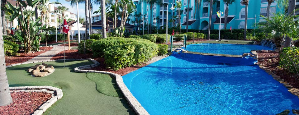 View of the Putt Putt Golf course at the Grand Villas Resort