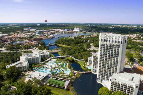 Aerial View Hilton Orlando Buena Vista Palace 600