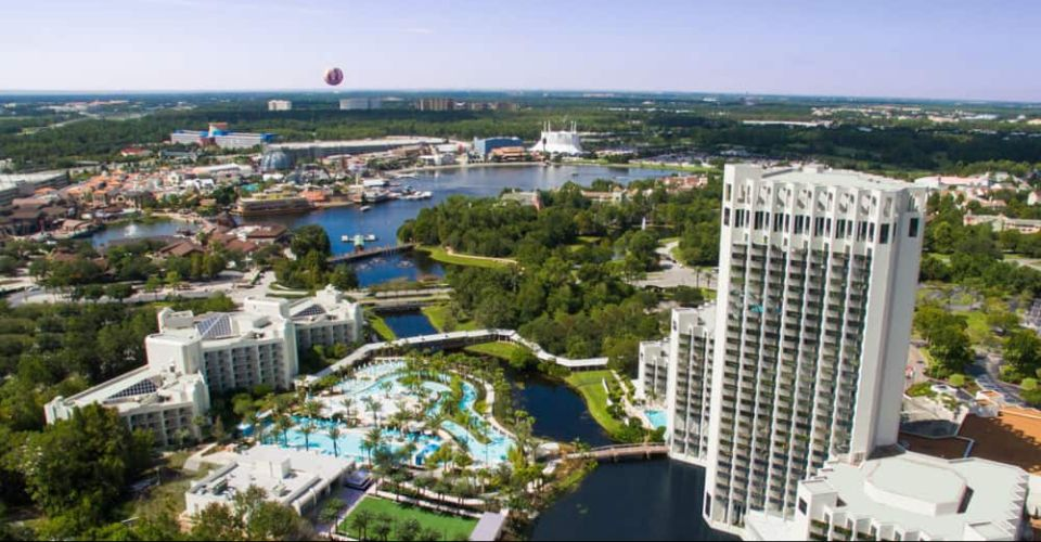 Aerial View Hilton Orlando Buena Vista Palace 960